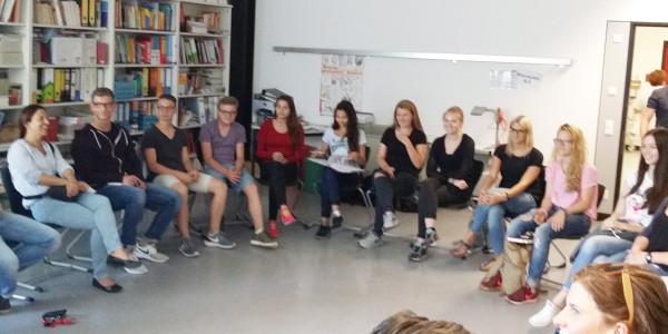 Schüler machen Weinheim bunt